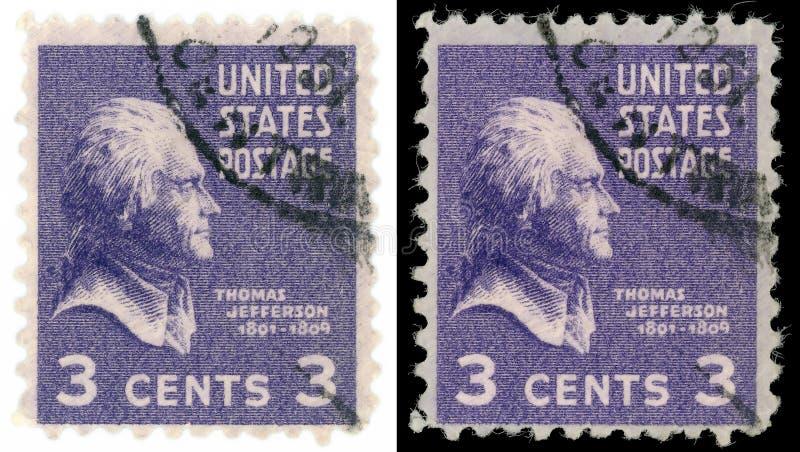 Thomas Jefferson stamp stock photography