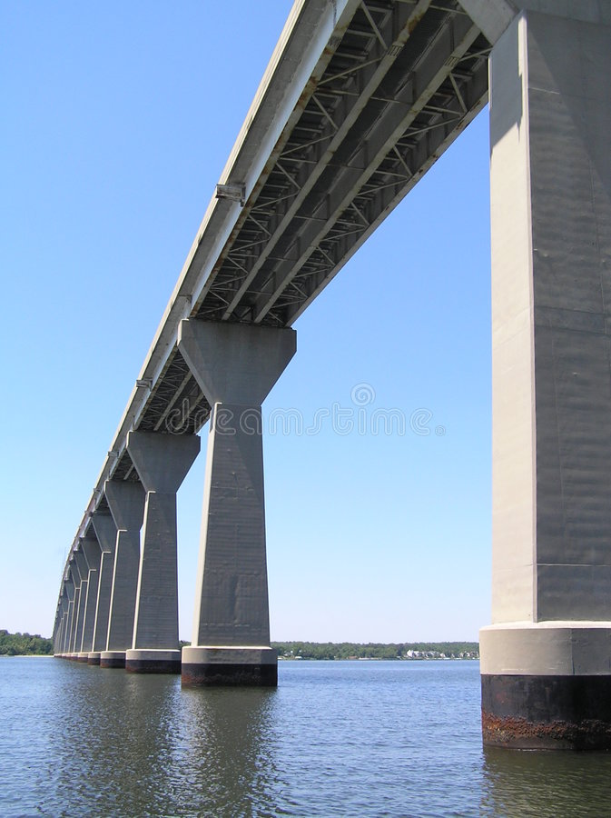 Thomas Johnson Bridge Solomons stock image