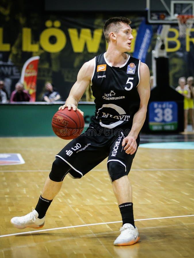 Thomas Joseph Bray pendant le joueur de basket de Rasta Vechta photo stock