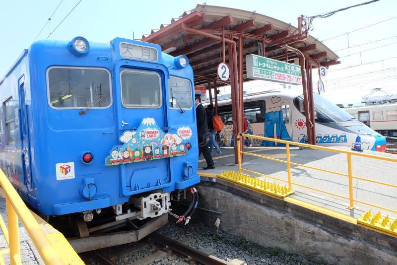 Thomas Land Train an Kawaguchiko-Station lizenzfreies stockfoto