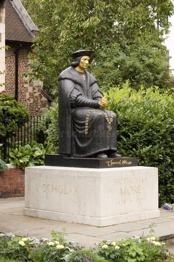 Thomas más estatua, Chelsea fotografía de archivo