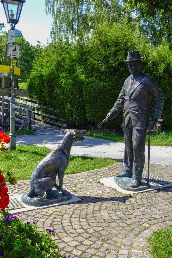 Thomas Mann-gedenkteken in Gmund royalty-vrije stock afbeeldingen