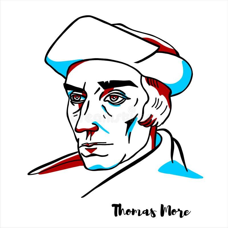 Thomas More portret ilustracja wektor