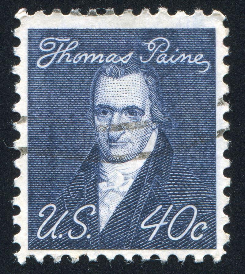 Thomas Paine. UNITED STATES - CIRCA 1965: stamp printed by United states, shows Thomas Paine, circa 1965 stock images