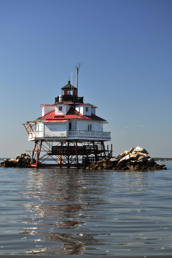 Thomas Point Light House royalty free stock image