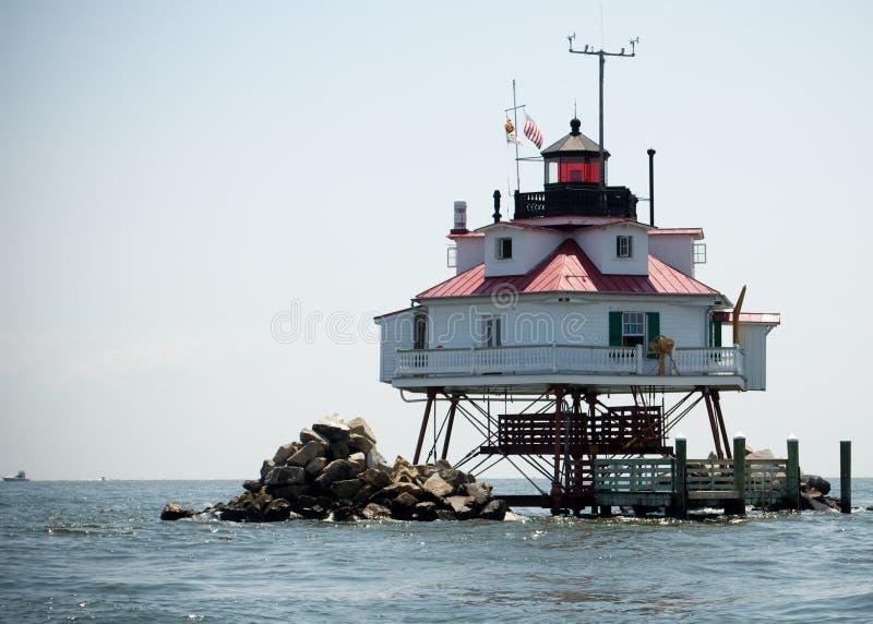Thomas Point Lighthouse royalty-vrije stock afbeelding