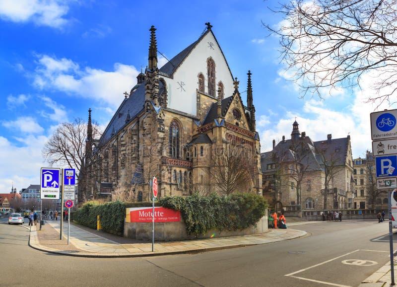 Thomaskirche Leipzig obraz royalty free