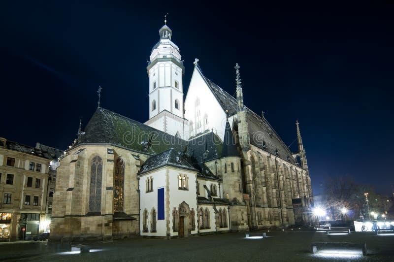 Thomaskirche in Leipzig stock foto's