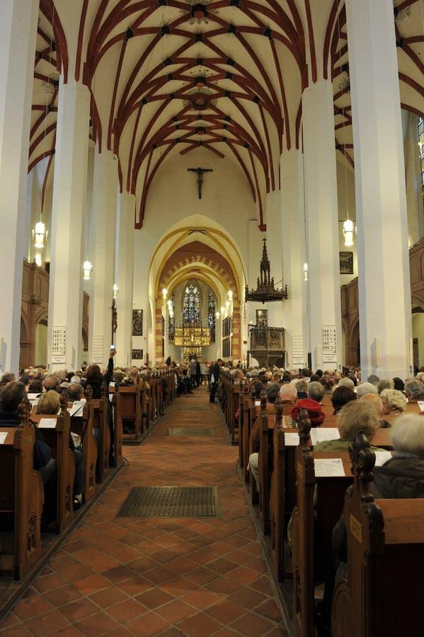 thomaskirche st thomas leipzig церков стоковые изображения rf