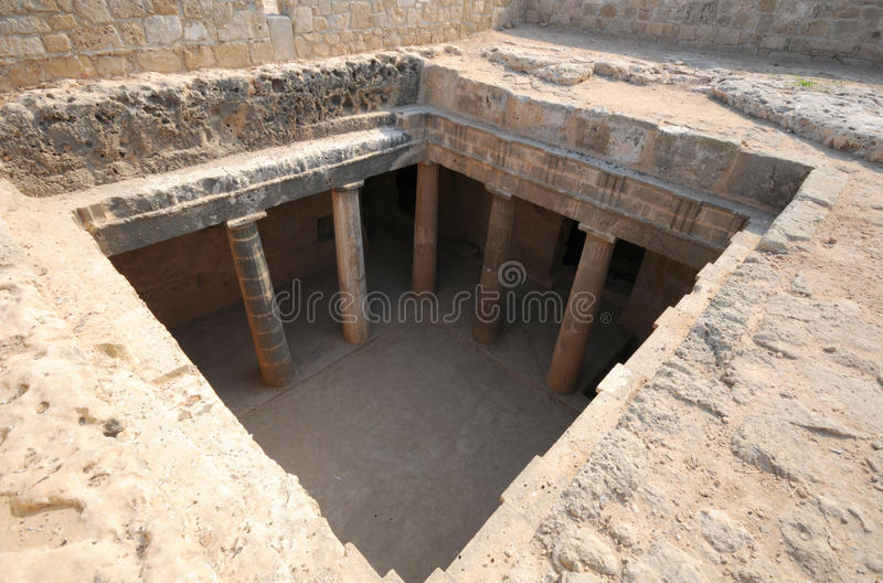 Thomb of the Kings. Ancient place in Paphos Cyprus stock images