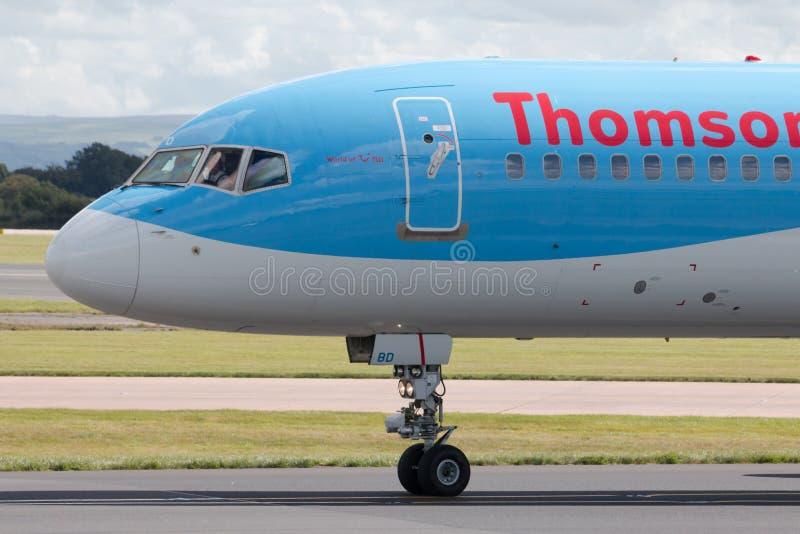 Thomson Boeing 757 fotografia stock libera da diritti