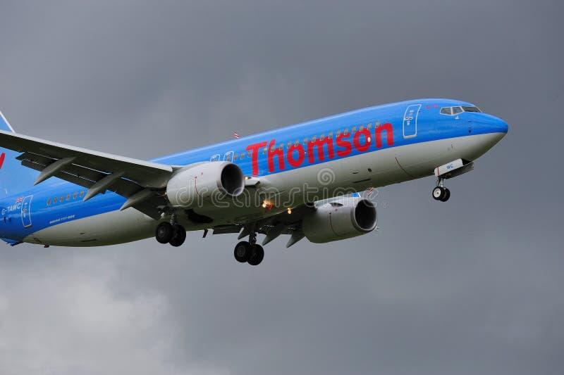 Thomson Boeing 737 immagini stock