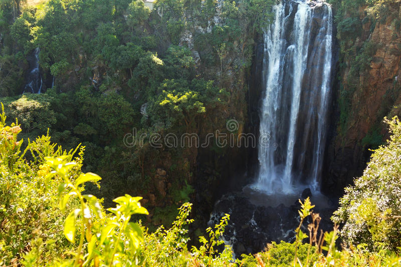 Thomson Falls. In Kenya panorama royalty free stock photo