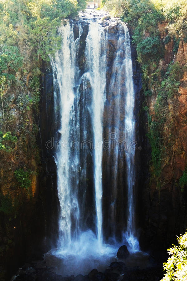 Thomson Falls. In Kenya shot from above stock photos