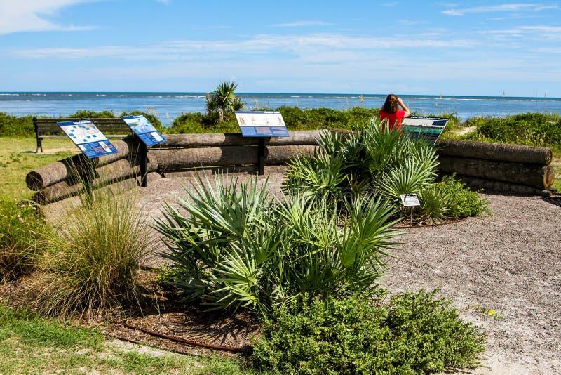 Thomson Park Sullivan Island, South Carolina arkivfoton