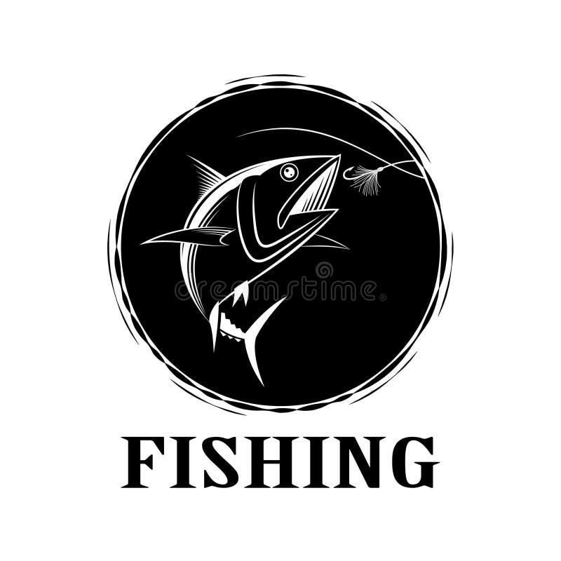 Thon de pêche de vecteur illustration libre de droits