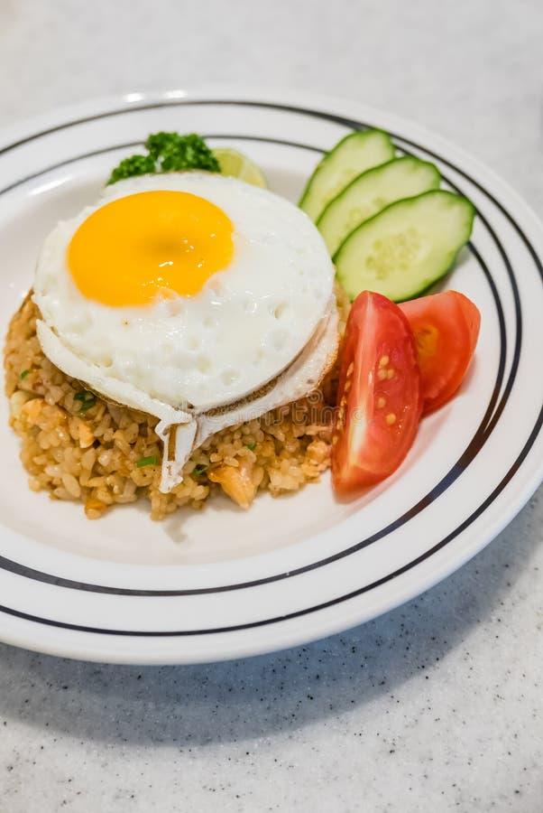 Download Thon De Riz Frit Avec L'oeuf Complété Photo stock - Image du vite, cuisine: 76087632