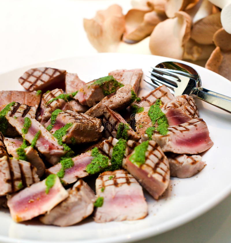 Thon grillé photo stock