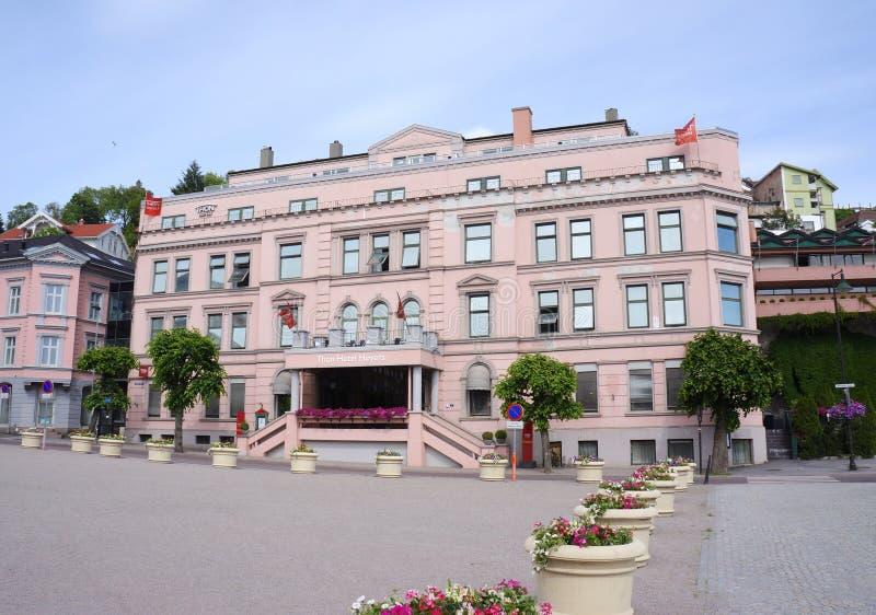 Thon-Hotel im Stadtzentrum von Skien, Telemark-Grafschaft, Norwegen lizenzfreies stockfoto