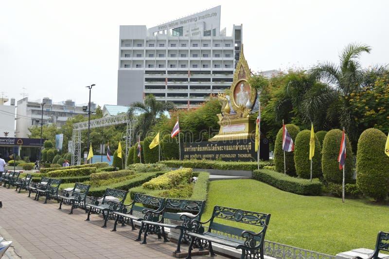 Thonburi de la Universidad Tecnológica de los mongkut del rey en Tailandia imagen de archivo