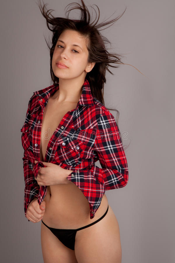 Download Thong and Flannel stock photo. Image of string, panties - 29582458