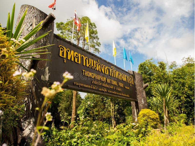Thongphaphum nationaal park royalty-vrije stock afbeeldingen