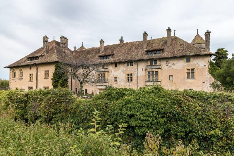 THONON-LES-BAINS法国欧洲- 9月15日:Chateau de Ripai 免版税图库摄影