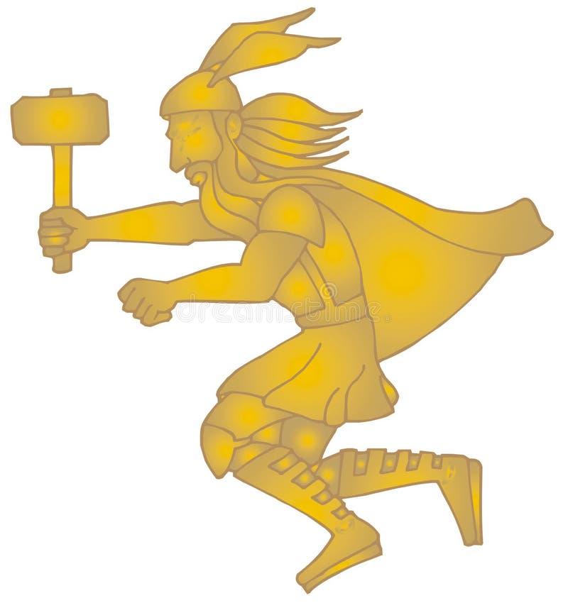 Download Thor stock vector. Illustration of antique, brave, violence - 4366483