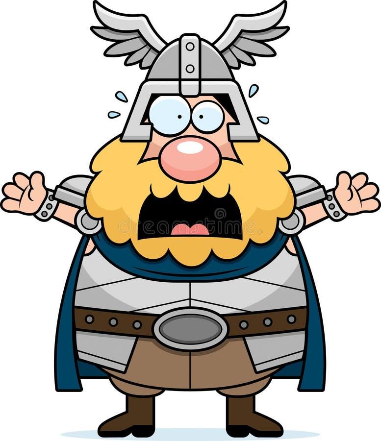 Thor asustado de la historieta ilustración del vector