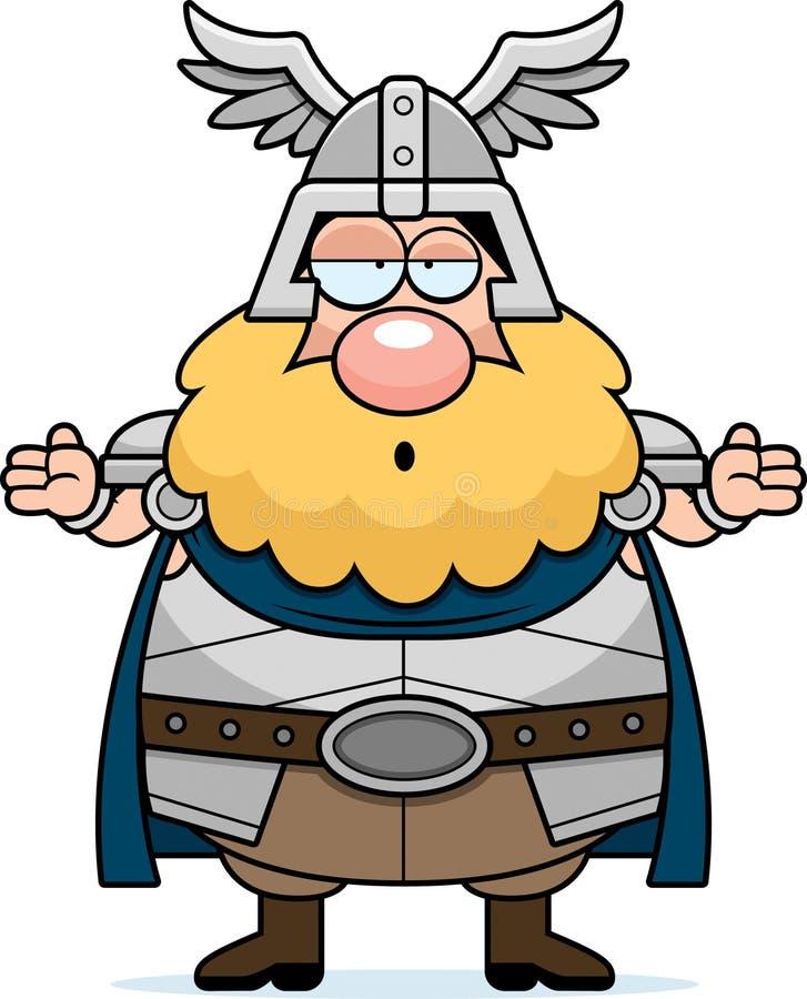 Thor confuso de la historieta stock de ilustración