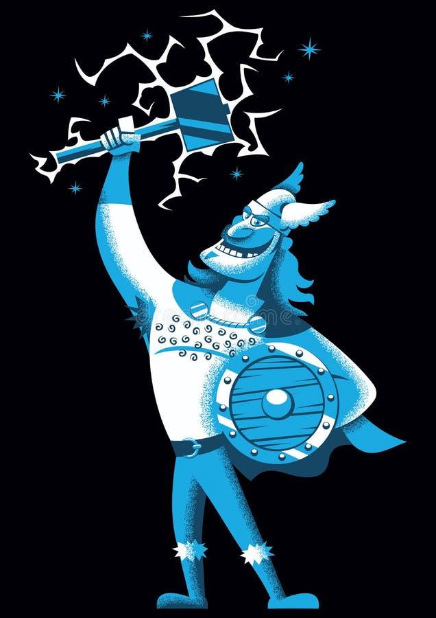 Thor de la historieta stock de ilustración