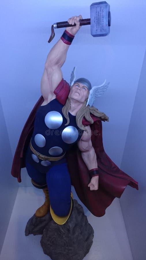 Thor, deus de trovão, o vingador o mais forte fotografia de stock royalty free