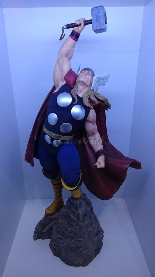 Thor, deus de trovão poderoso, o vingador o mais forte foto de stock royalty free