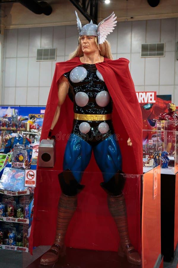 Thor, eroi eccellenti di meraviglia corrisponde a promuove il film a Bangkok, Tailandia fotografia stock