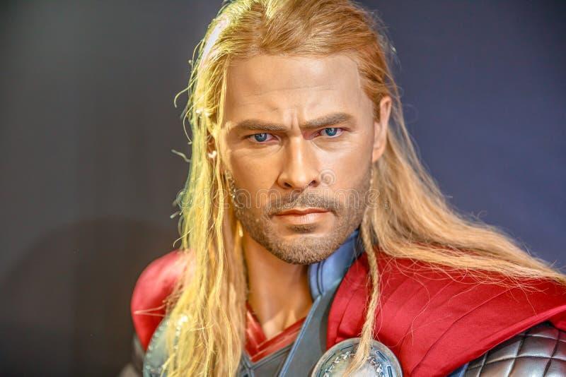 Thor God do trovão imagens de stock royalty free
