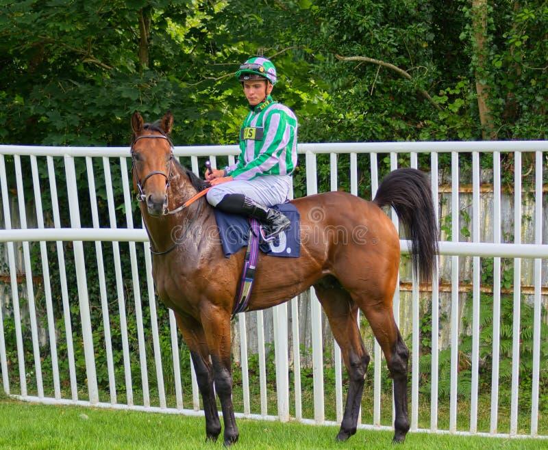 Thor Hammer Hansen Lehrlings-Jockey auf Forus lizenzfreie stockfotografie