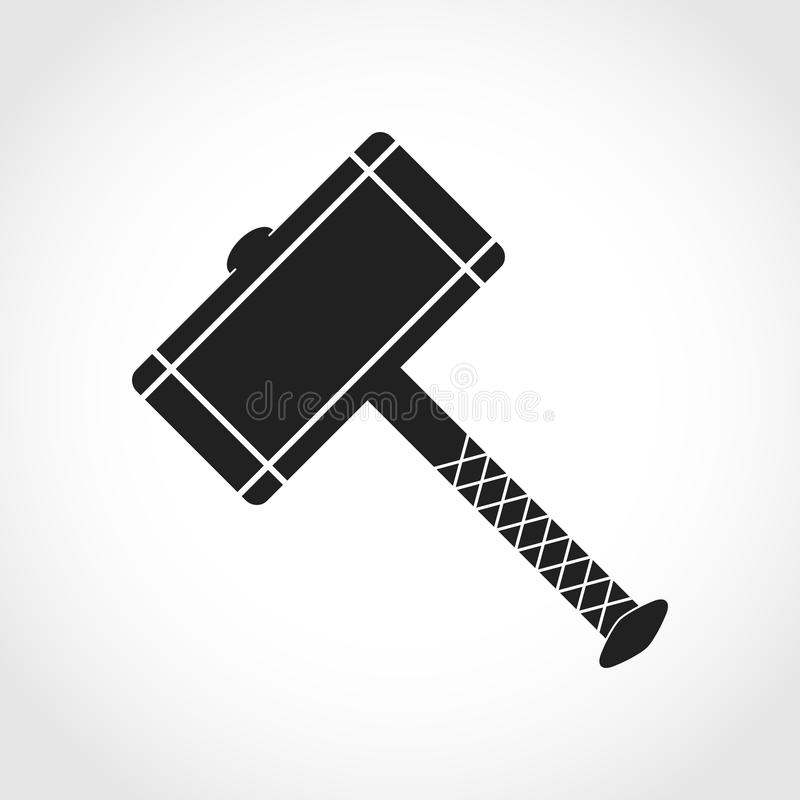 Vector Illustration Hammer: Thor Hammer Icon. Vector Illustration Stock Illustration