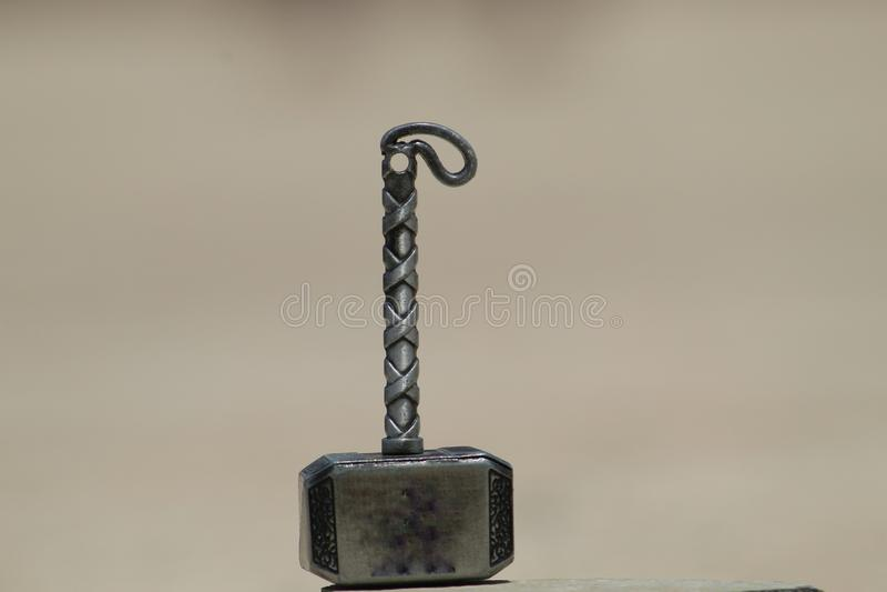 Thor Hammer per micro fotografia immagini stock libere da diritti