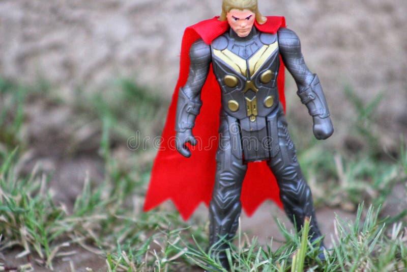 Thor The King van Asgard stelt stock afbeelding