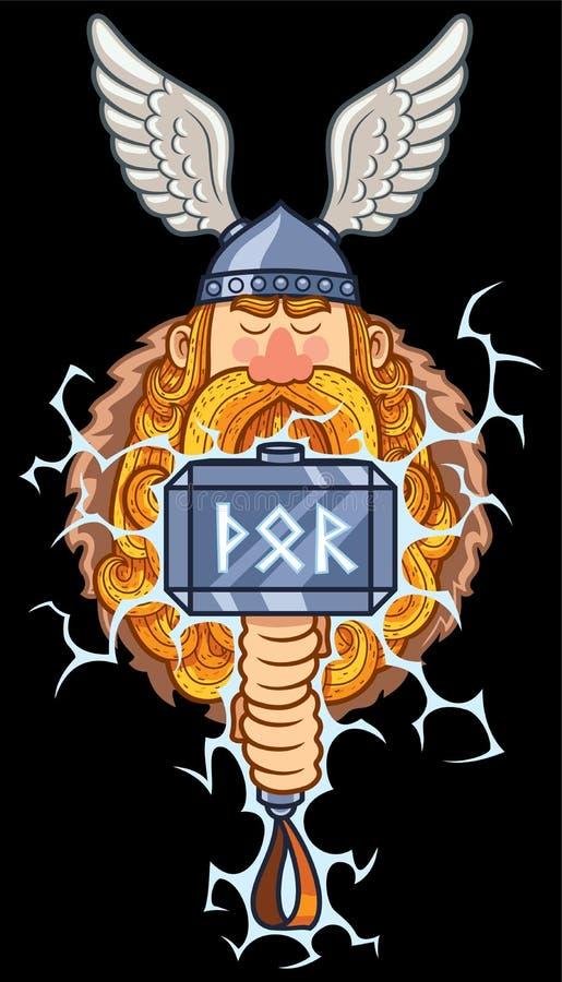 Thor Portrait ilustração do vetor