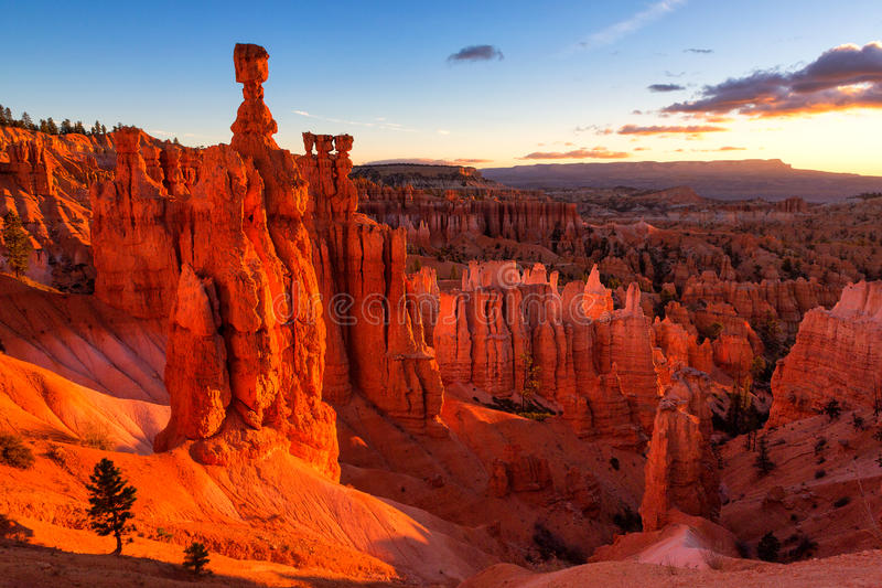 Thor`s Hammer in Bryce Canyon National Park stock photo