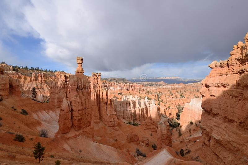 Thor's Hammer. A cloudy spring evening at Thor's Hammer of Bryce Canyon National Park, Utah, USA stock images