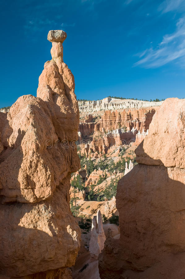 Thor's Hammer formation, Bryce Canyon, Utah, USA stock images