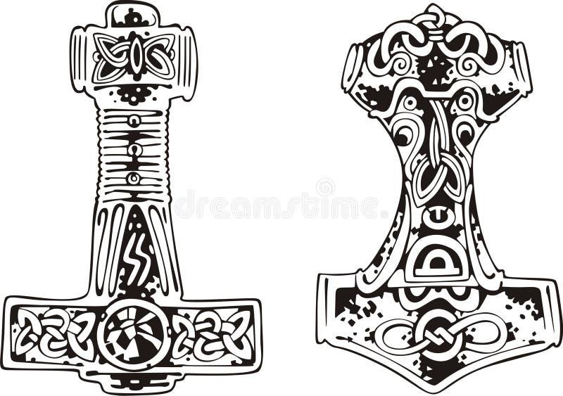 Vector Illustration Hammer: Thor's Hammers Stock Vector. Illustration Of Nordic