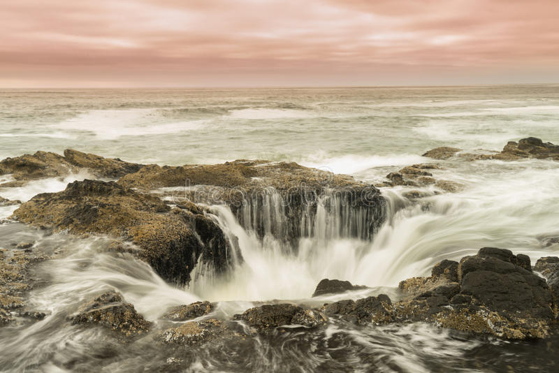 Thor's Well royalty free stock photos