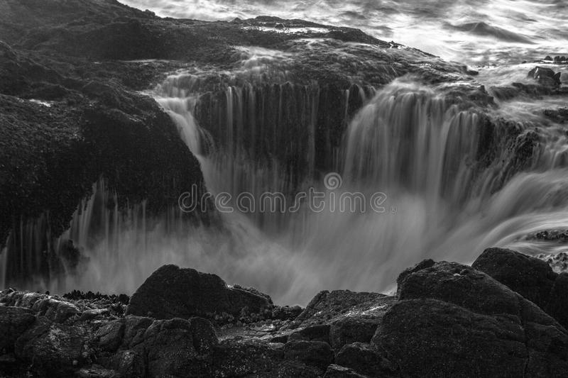 Thor`s Well, Cape Perpetua, Oregon royalty free stock image