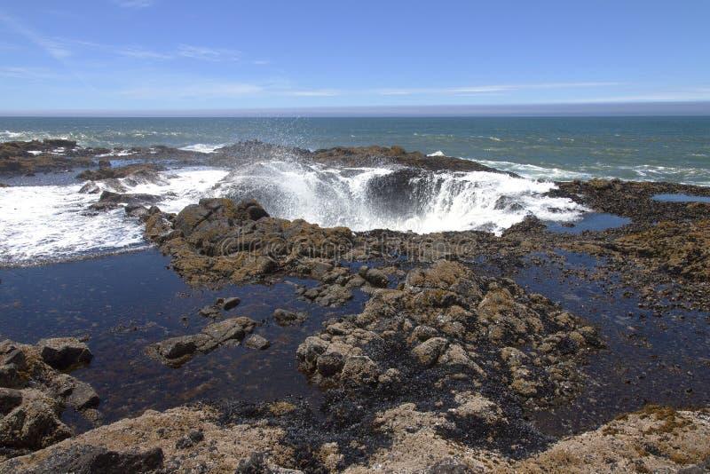Thor's well Oregon coast. royalty free stock images