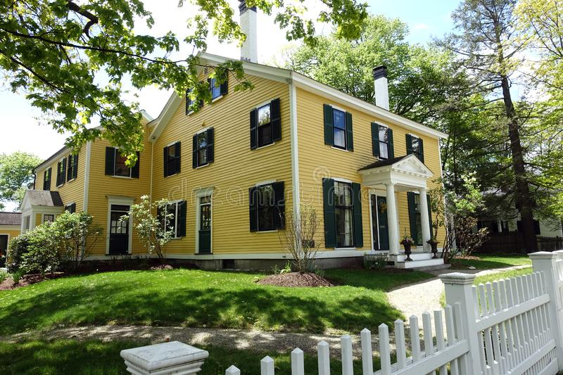 Thoreau–Alcott House in Downtown Concord, MA. Thoreau–Alcott House - The home of Henry David Thoreau and Louisa May Alcott at different times - in stock images