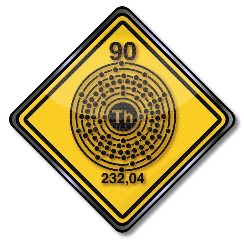 Thorium de marque de chimie illustration de vecteur