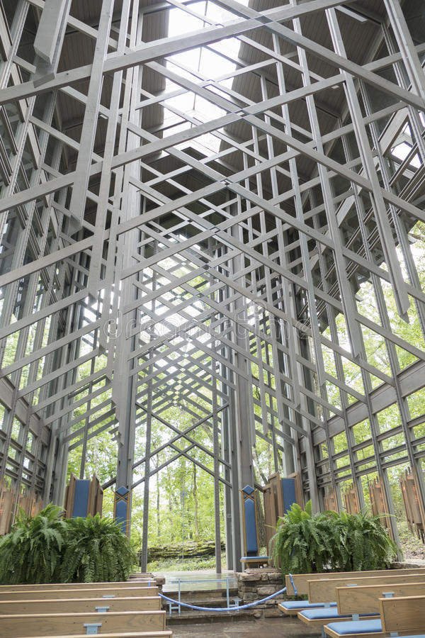 Thorncrown glass chapel royalty free stock images